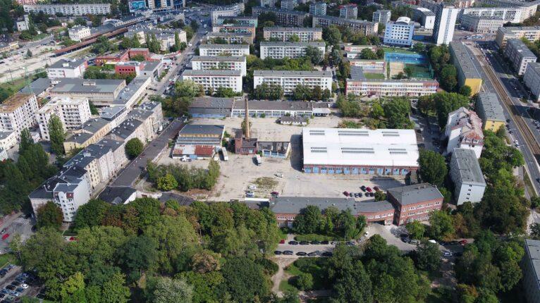 ulica Kolejowa we Wrocławiu, widok z drona