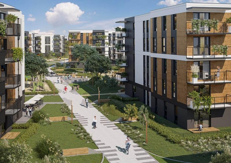wizualizacja nowego osiedla