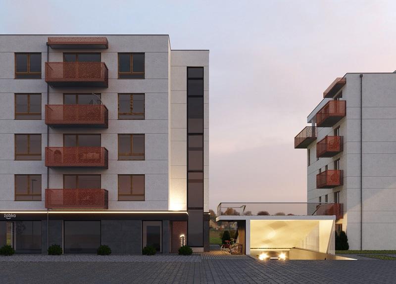 bloki mieszkzlne na nowym osiedlu (render)