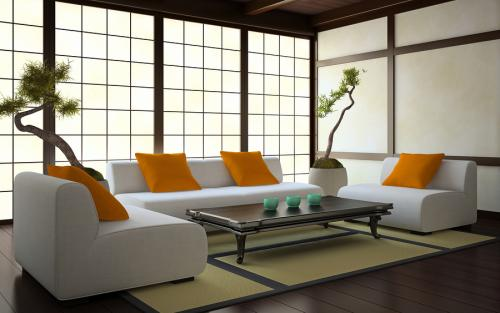 wnętrze w stylu japońskim